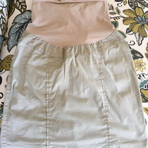 NWOT motherhood maternity khaki skirt sz S